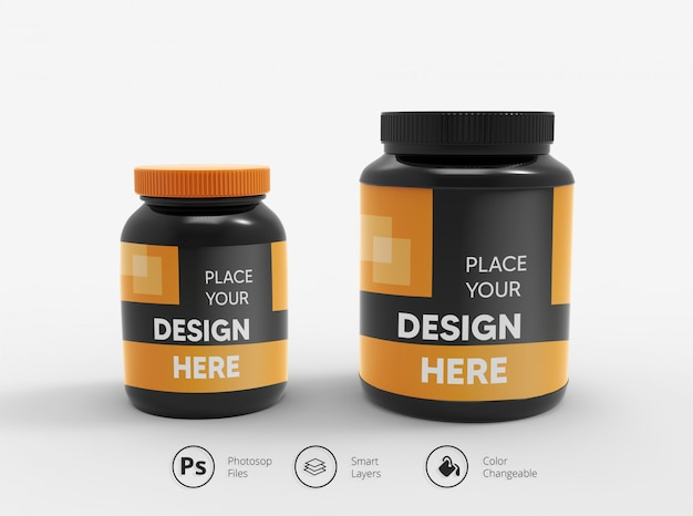 Gym protein bottle mockup