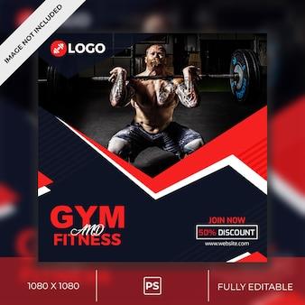 Gym social media post