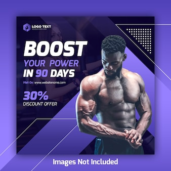 Gym social media postbanner