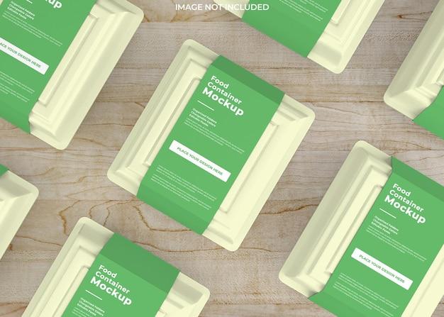 Haal het mockup-ontwerp van de voedseldoos weg