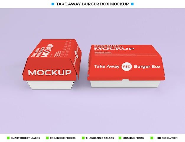 Haal het mockup-ontwerp van het voedselpakket weg