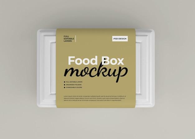 Haal het mockup van de voedseldoos weg voor het verpakken van fastfood