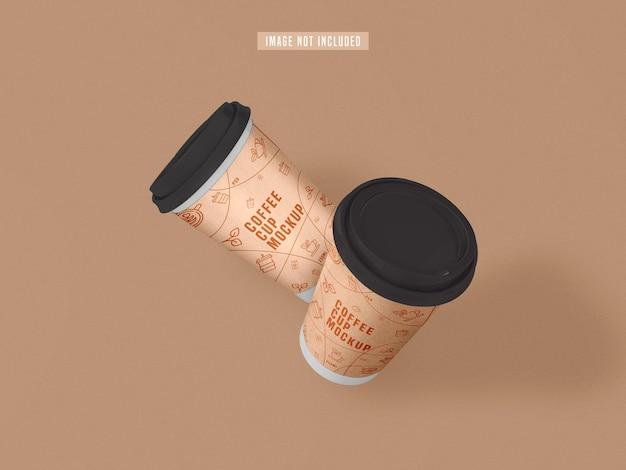 Haal het mockup van een papieren koffiekopje weg Premium Psd