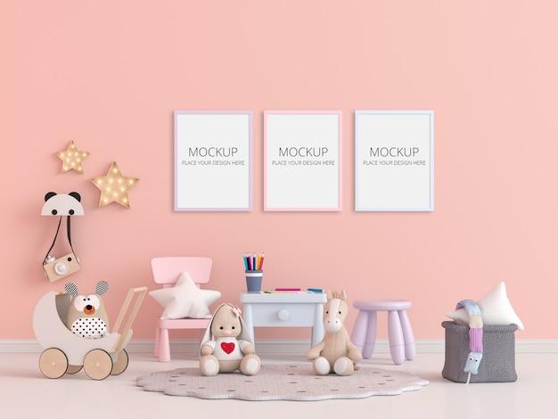 Habitación infantil con maqueta de marco.