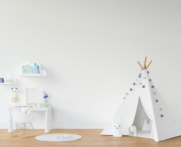 Habitación infantil con tipi blanco