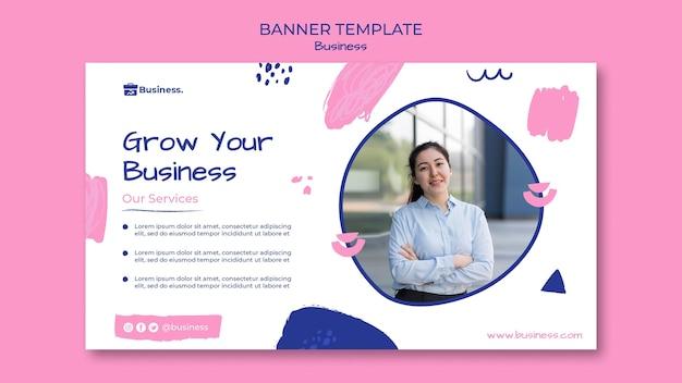 Haga crecer su plantilla de banner empresarial