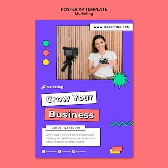 Haga crecer su plantilla de póster empresarial