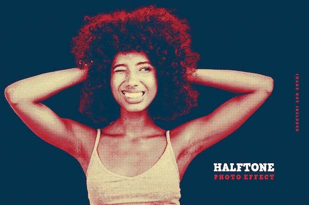 Halftone foto-effect sjabloon