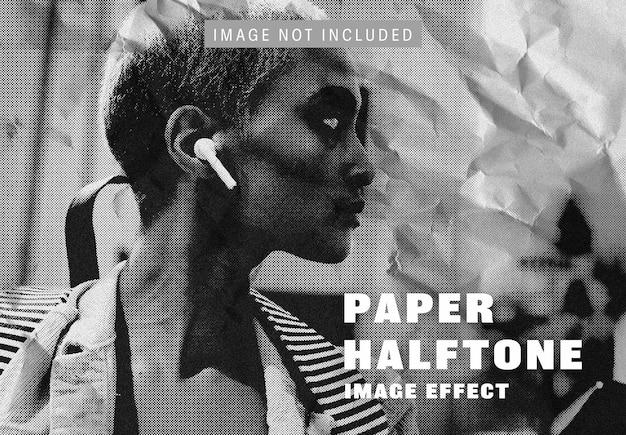 Halftoon papier afbeeldingseffect