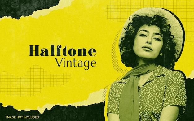Halftoon vintage foto-effect