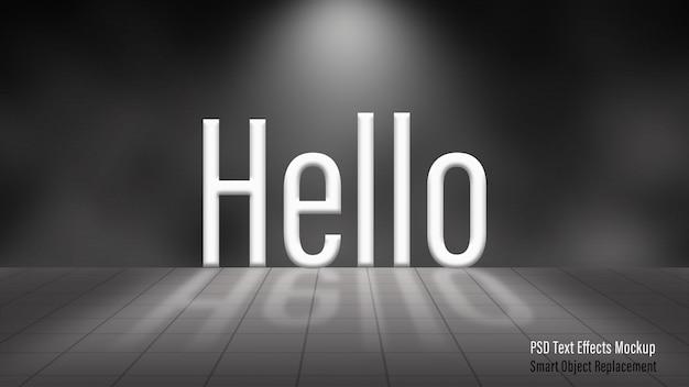 Hallo 3d-teksteffecten mockup