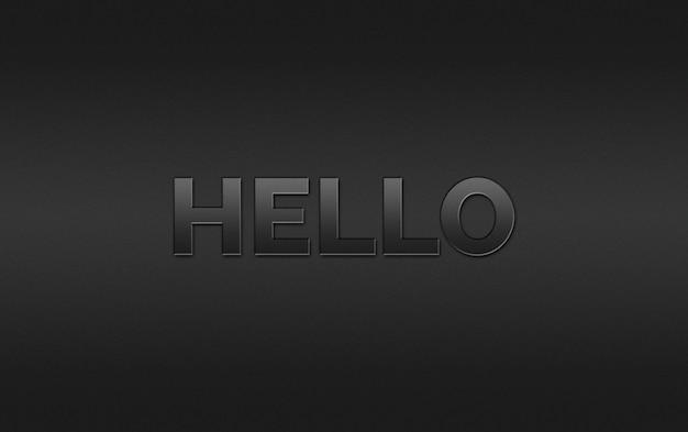 Hallo teksteffectstijl