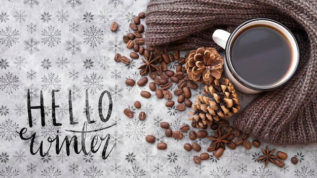 Hallo winterbericht naast winterarrangement