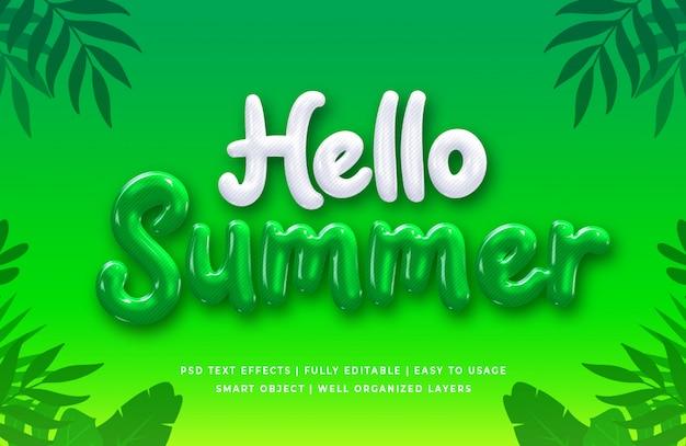 Hallo zomer 3d-tekststijleffect