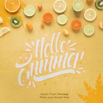 Hallo zomer concept met exotisch fruit