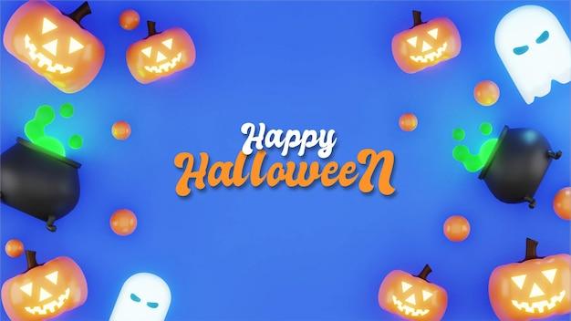 Halloween-achtergrondontwerp, 3d-rendering