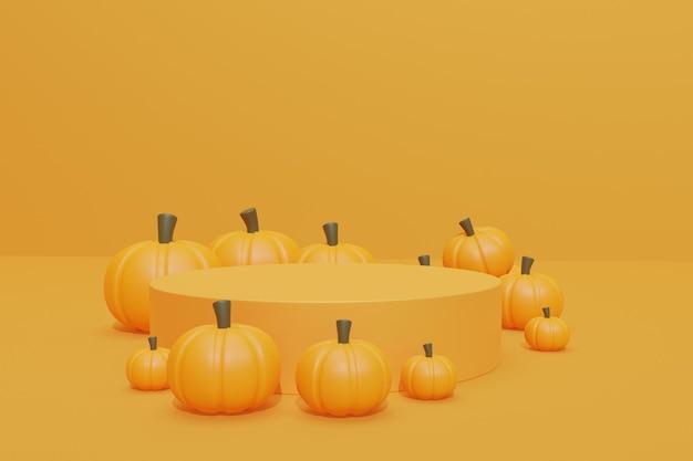 Halloween-achtergrondontwerp met 3d podium