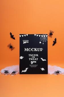 Halloween arrangement met mock-up kaart
