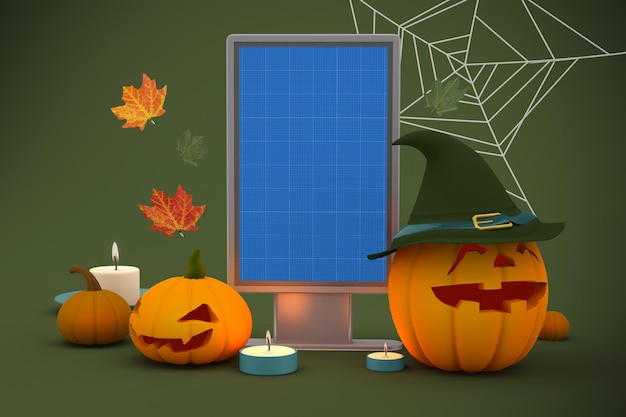 Halloween billboard-mockup