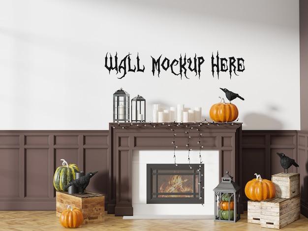 Halloween-feest ingericht interieurmuurmodel