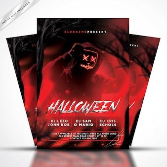 Halloween flyer feest