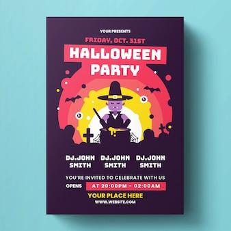 Halloween flyer-sjabloon