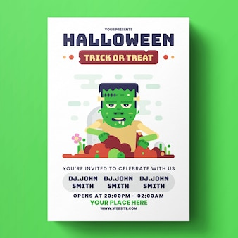 Halloween flyer-sjabloon
