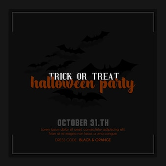 Halloween instagram instagram post of sjabloon voor spandoek