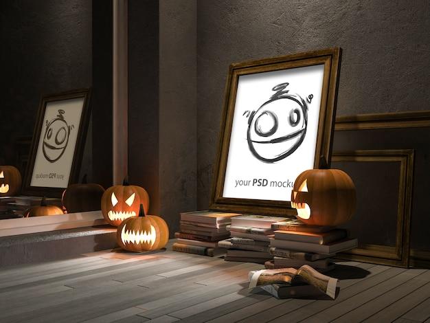 Halloween-mockup met frame