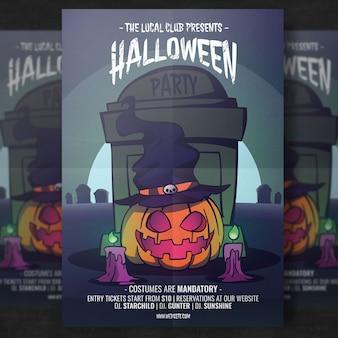 Halloween-partij flyer-sjabloon