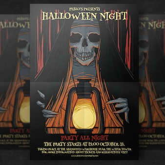Halloween-partij flyer-sjabloon