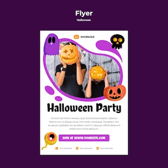 Halloween party flyer-sjabloon