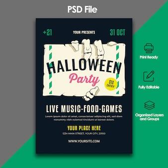 Halloween party folder sjabloon