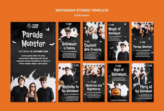 Halloween party instagram-verhalen