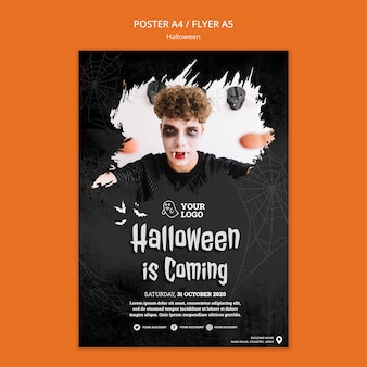 Halloween party poster sjabloon
