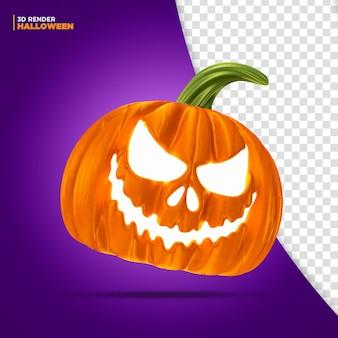 Halloween pumpikin render 3d para composición