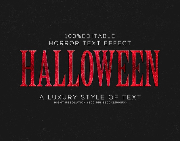 Halloween-tekststijleffect