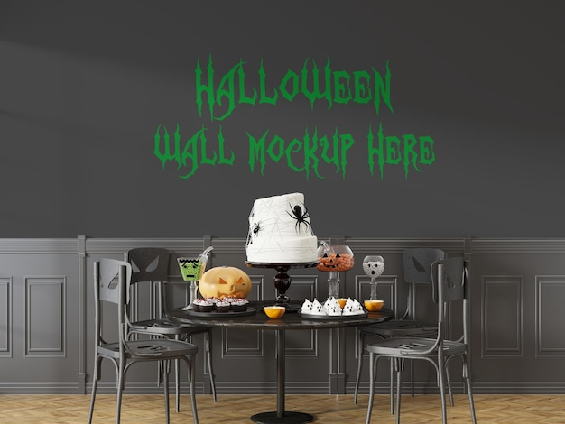 Halloween-vakantiemodel in 3d-rendering