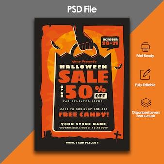 Halloween verkoop folder sjabloon
