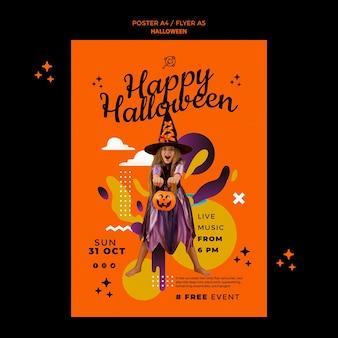 Halloween verticale afdruksjabloon