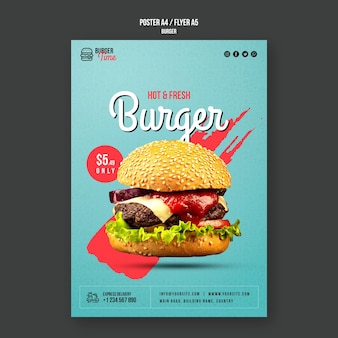 Hamburger concept poster sjabloon