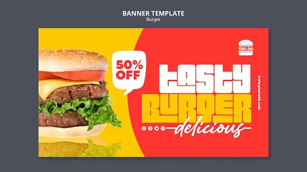 Hamburger concept sjabloon voor spandoek