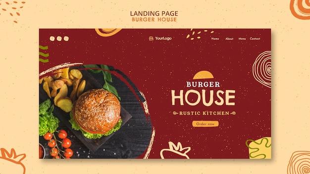 Hamburger huis instagram verhalen sjabloon