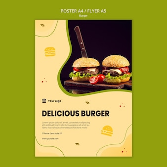 Hamburger poster sjabloon