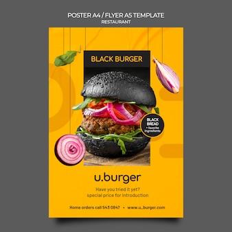 Hamburger restaurant afdruksjabloon