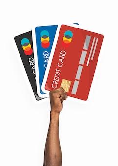Hand met creditcard clipart
