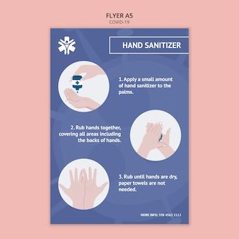 Handdesinfecterend poster sjabloon