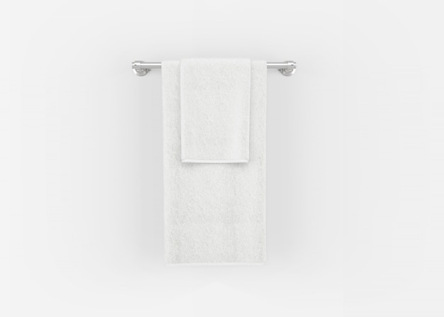 Handdoeken op handdoekenrek
