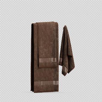 Handdoeken opknoping 3d geïsoleerd render