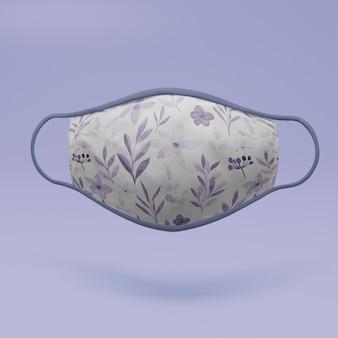 Handgemaakt gezichtsmasker met mock-up concept